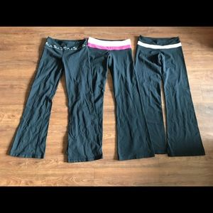 Lot of 3 Lululemon Yoga Workout Leggings Pants 6